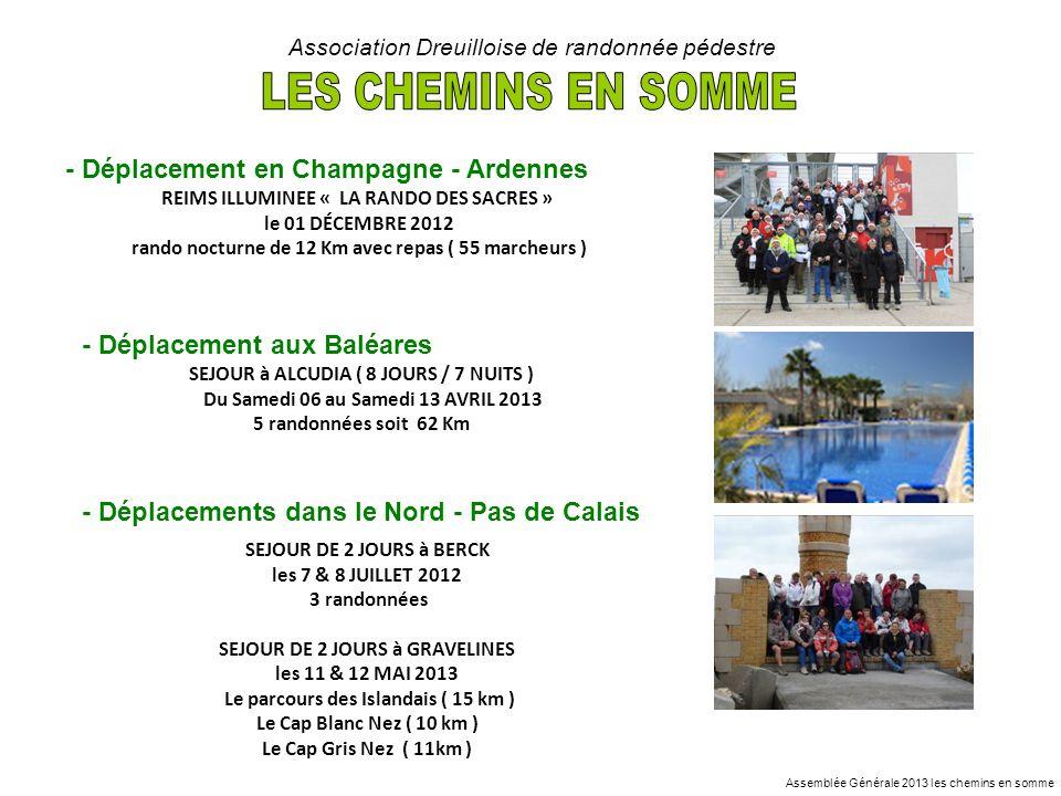 LES CHEMINS EN SOMME - Déplacement en Champagne - Ardennes