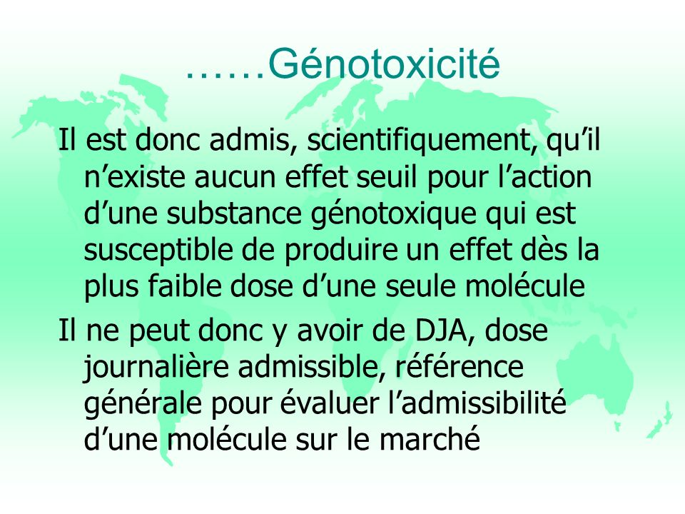 ……Génotoxicité