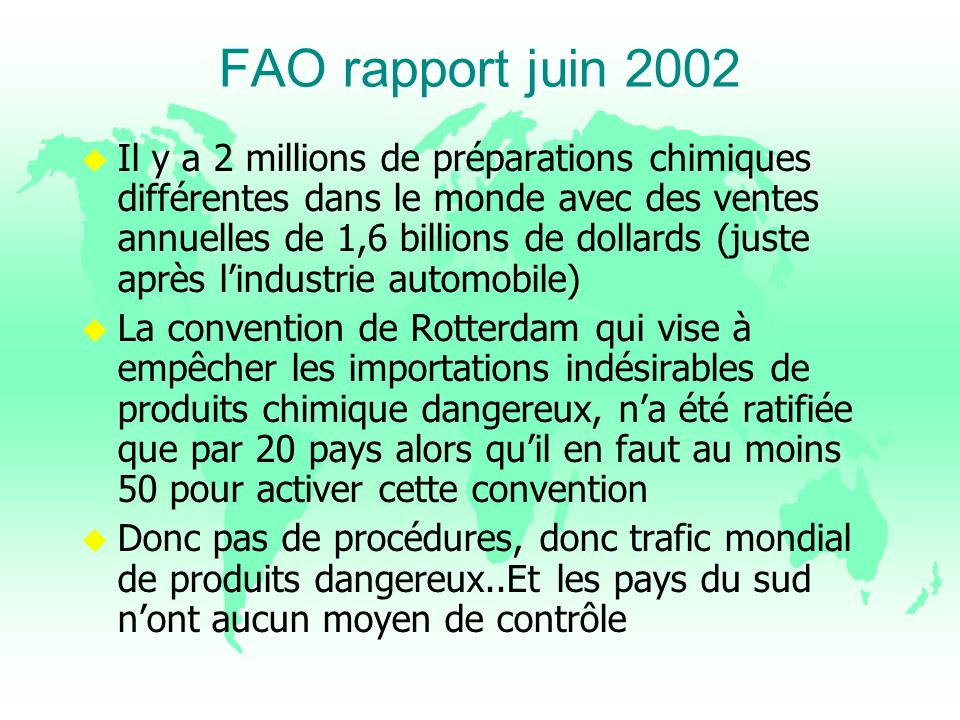 FAO rapport juin 2002