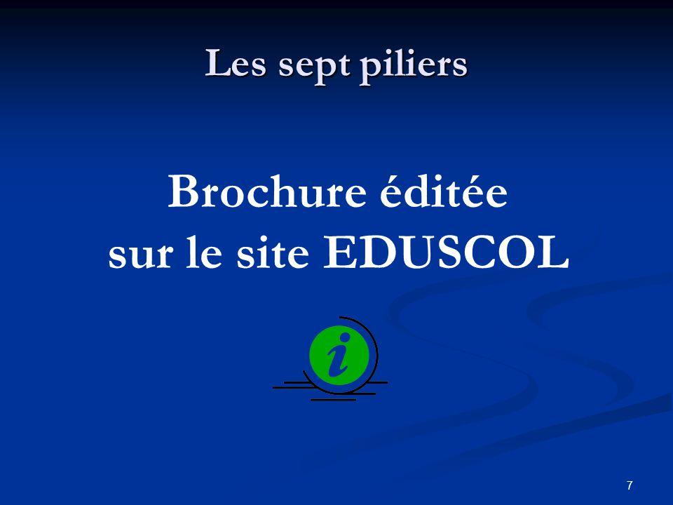 Brochure éditée sur le site EDUSCOL