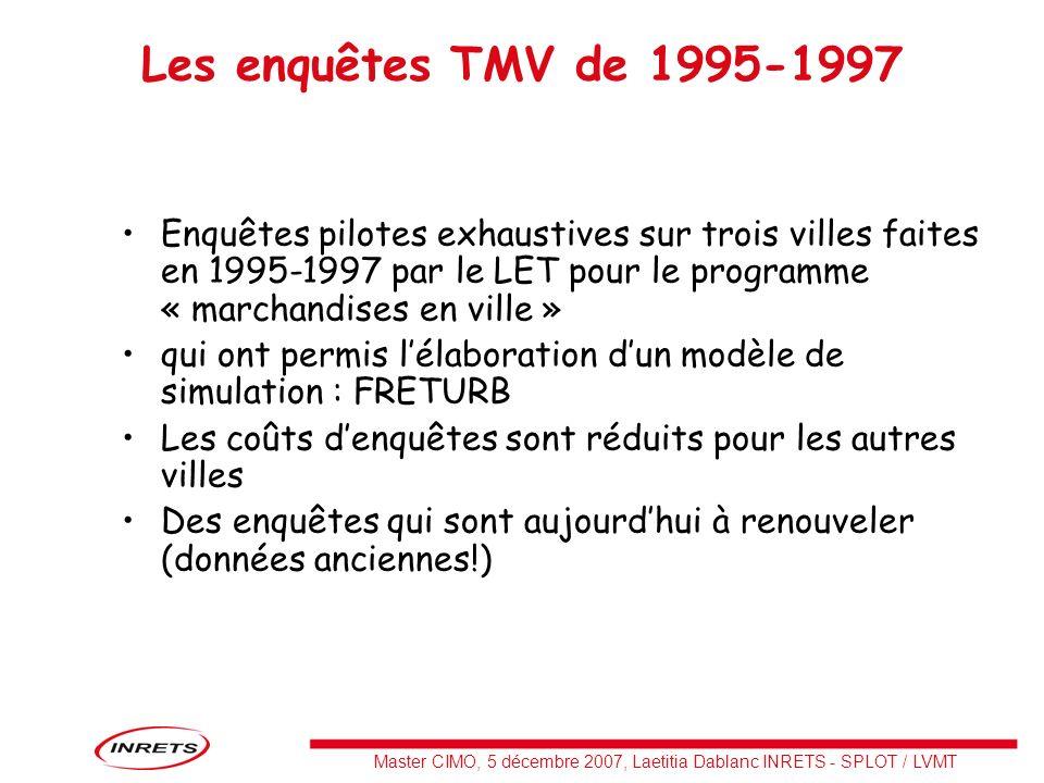 Les enquêtes TMV de 1995-1997