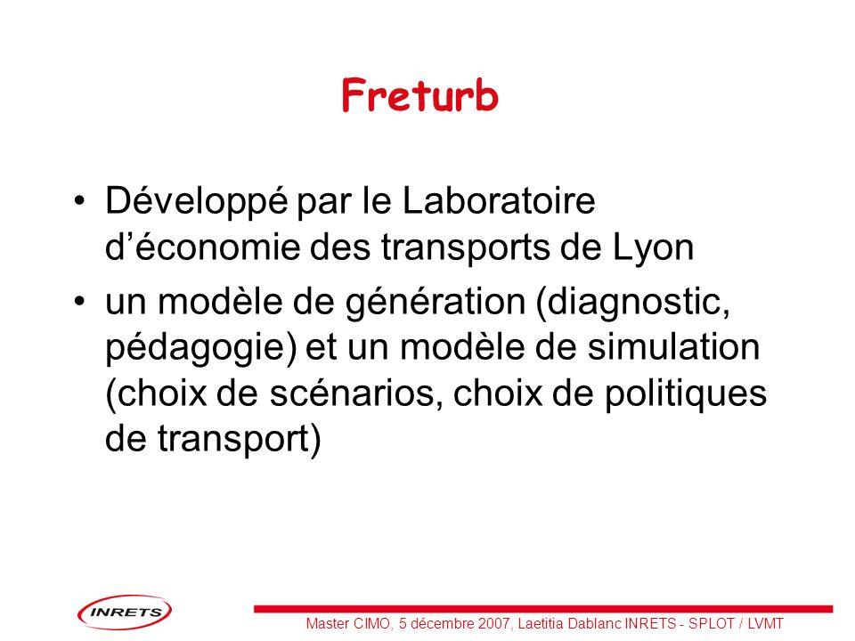 Freturb Développé par le Laboratoire d'économie des transports de Lyon