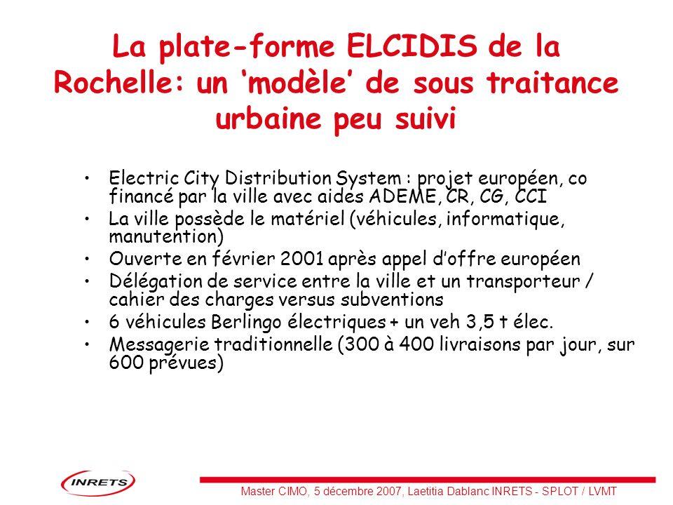 La plate-forme ELCIDIS de la Rochelle: un 'modèle' de sous traitance urbaine peu suivi