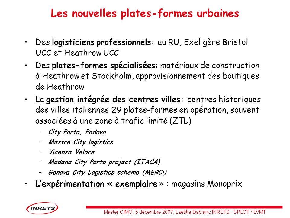 Les nouvelles plates-formes urbaines