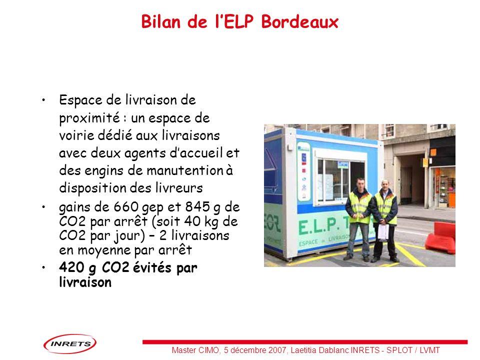 Bilan de l'ELP Bordeaux