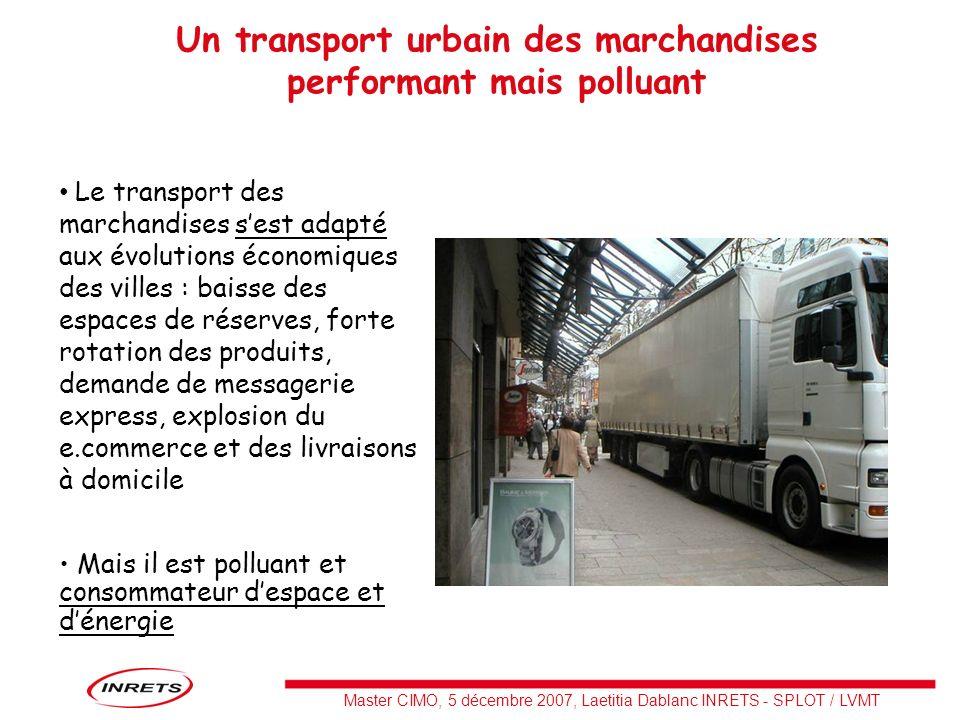 Un transport urbain des marchandises performant mais polluant