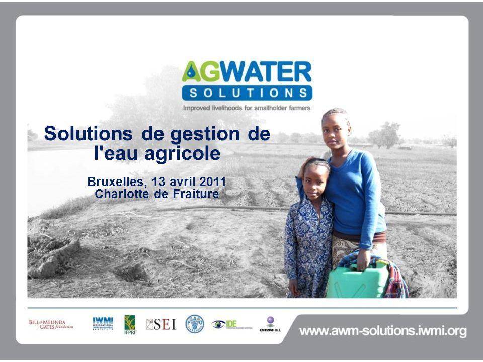 Solutions de gestion de l eau agricole