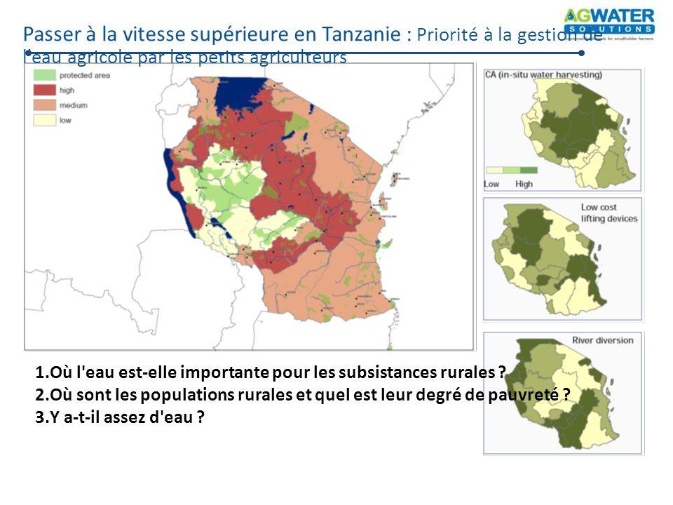 Passer à la vitesse supérieure en Tanzanie : Priorité à la gestion de l eau agricole par les petits agriculteurs