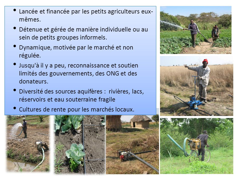 Lancée et financée par les petits agriculteurs eux- mêmes.