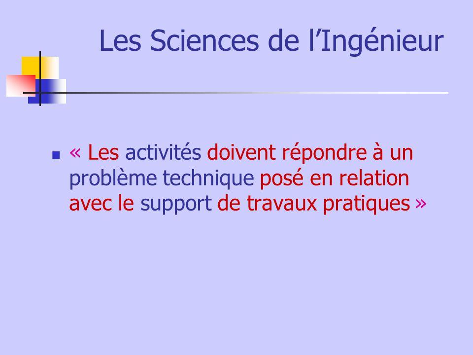 Les Sciences de l'Ingénieur
