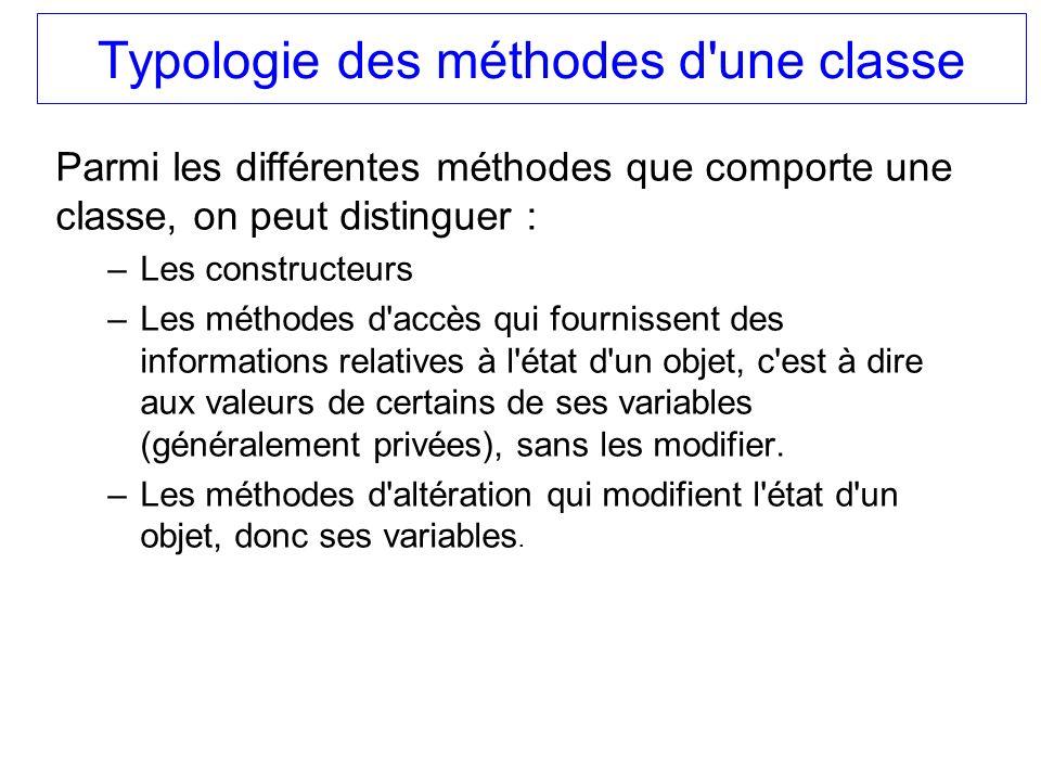 Typologie des méthodes d une classe