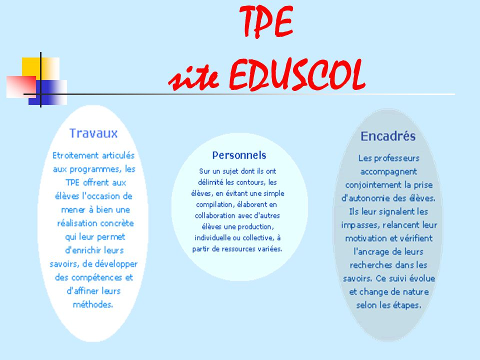 TPE site EDUSCOL