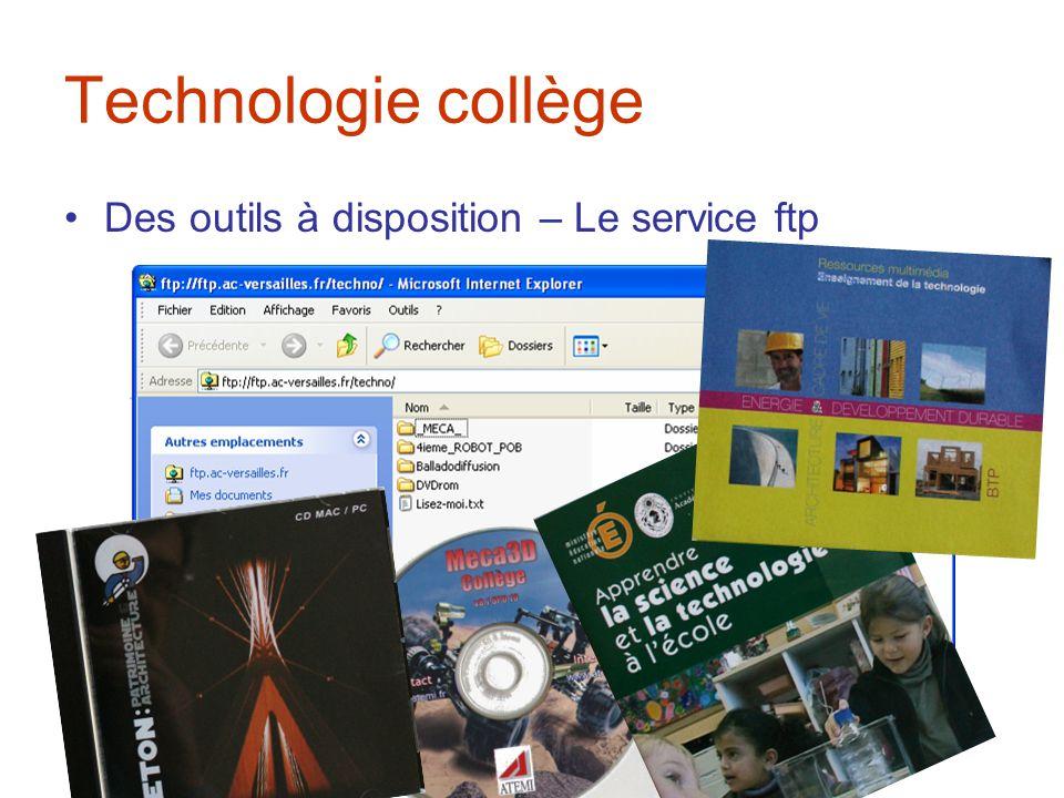 Technologie collège Des outils à disposition – Le service ftp