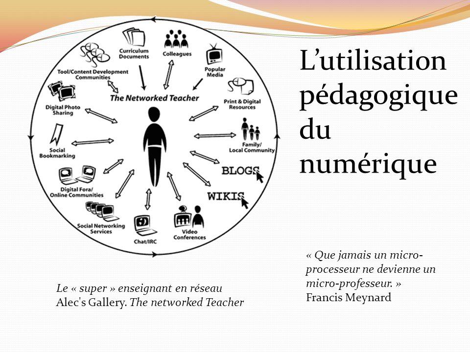 L'utilisation pédagogique du numérique
