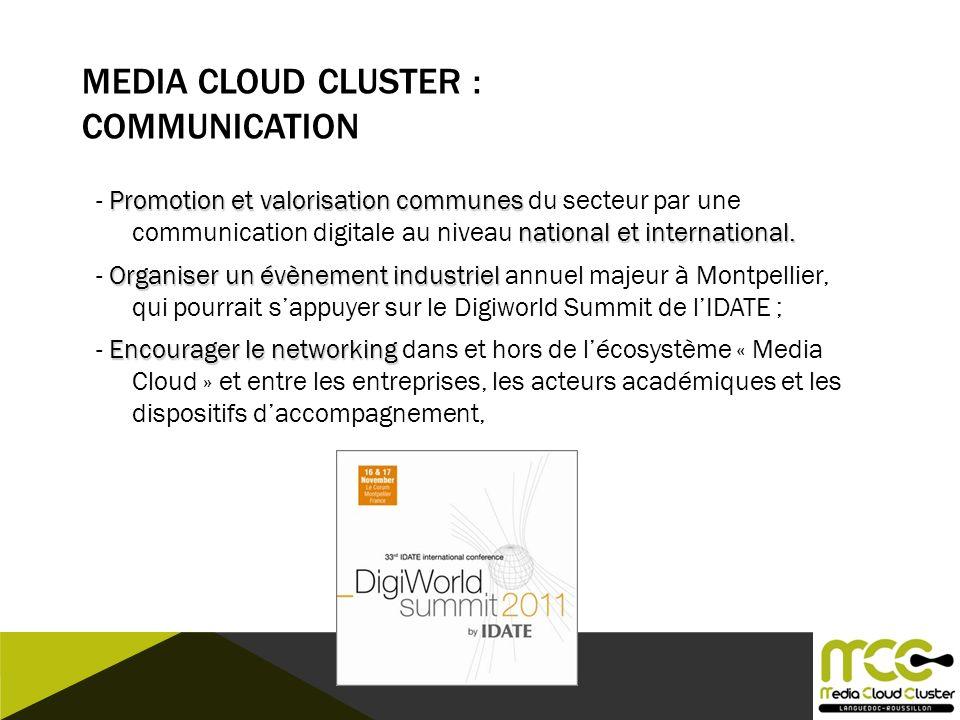 Media Cloud CLUSTER : Communication