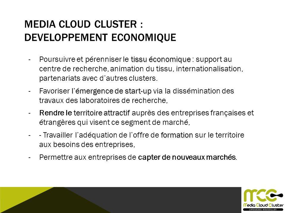Media Cloud CLUSTER : Developpement Economique