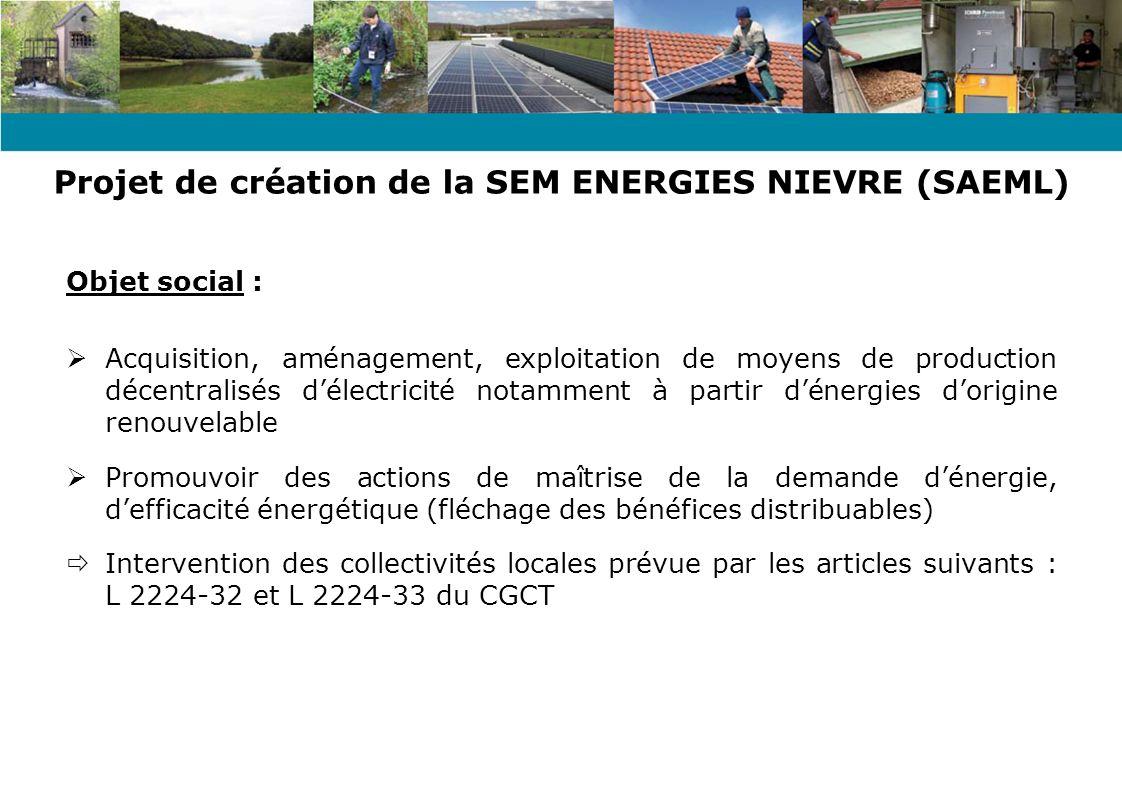 Projet de création de la SEM ENERGIES NIEVRE (SAEML)