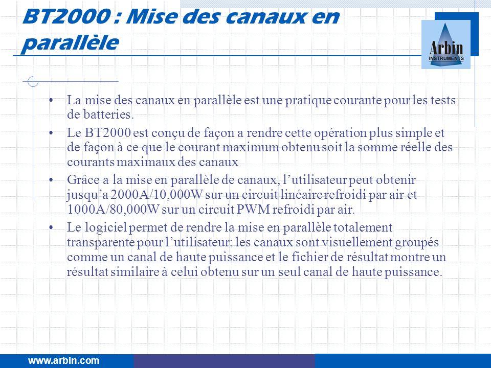 BT2000 : Mise des canaux en parallèle