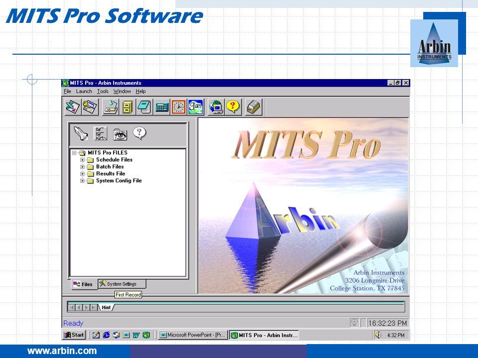 MITS Pro Software www.arbin.com