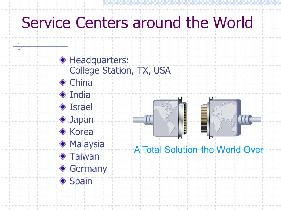 Service Centers around the World