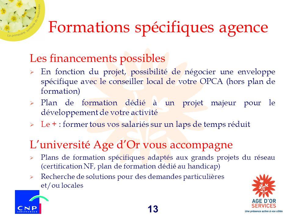 Formations spécifiques agence