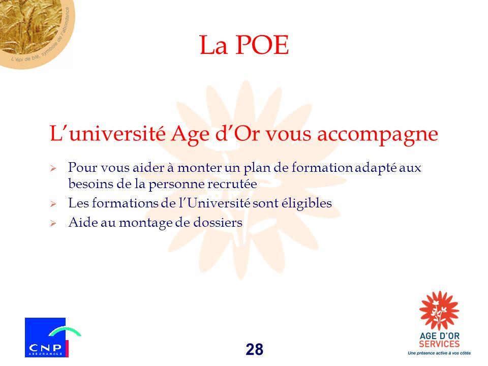 La POE L'université Age d'Or vous accompagne