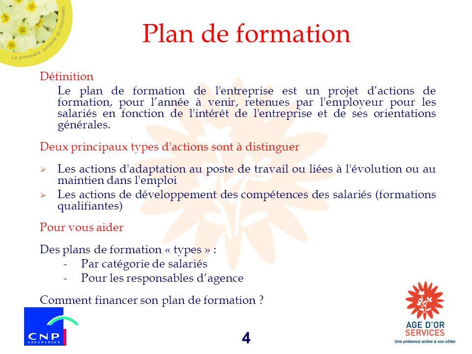 Plan de formation Définition