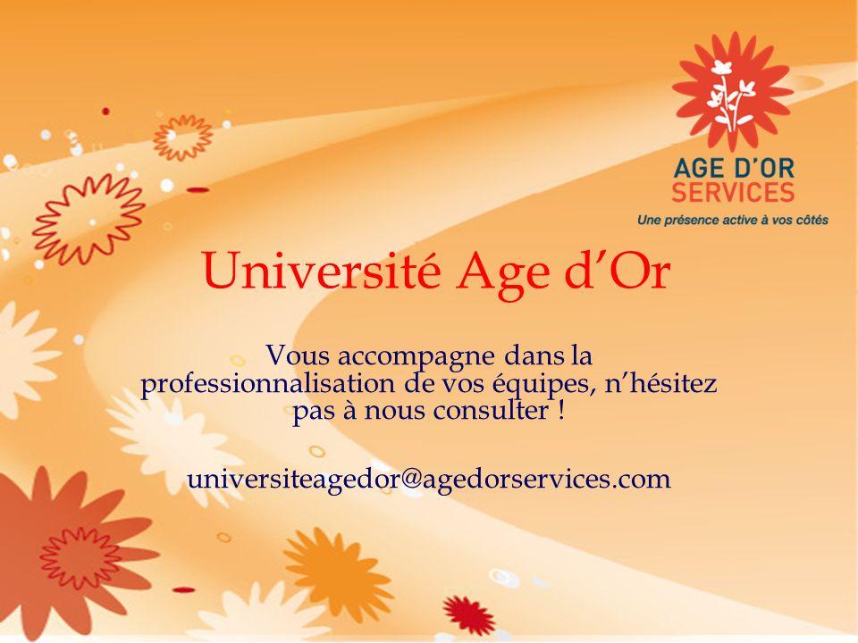 Université Age d'Or Vous accompagne dans la professionnalisation de vos équipes, n'hésitez pas à nous consulter !
