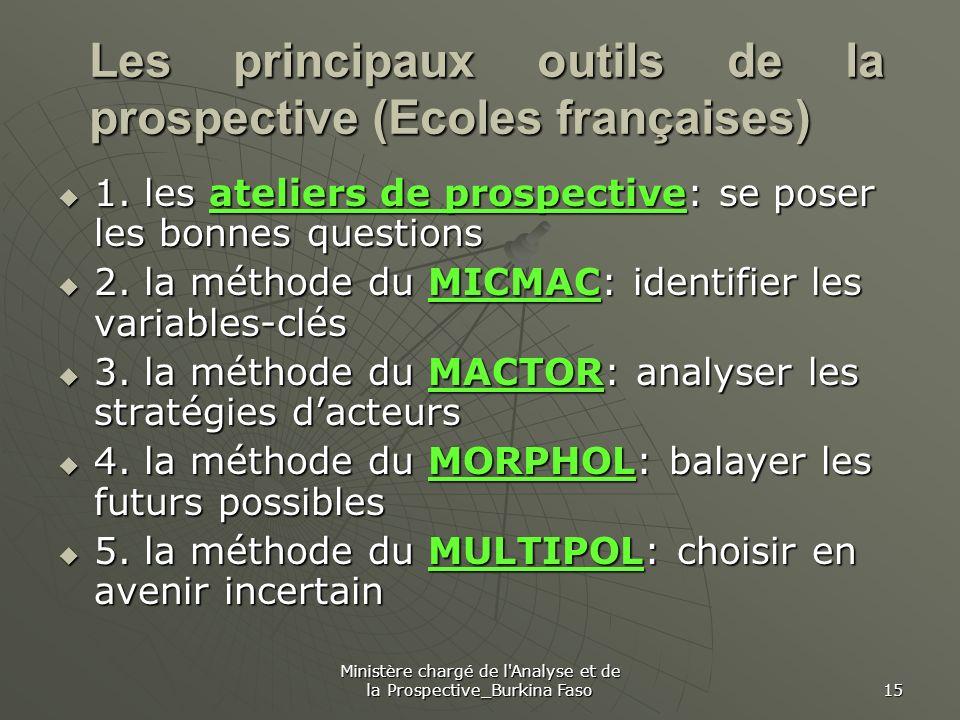Les principaux outils de la prospective (Ecoles françaises)