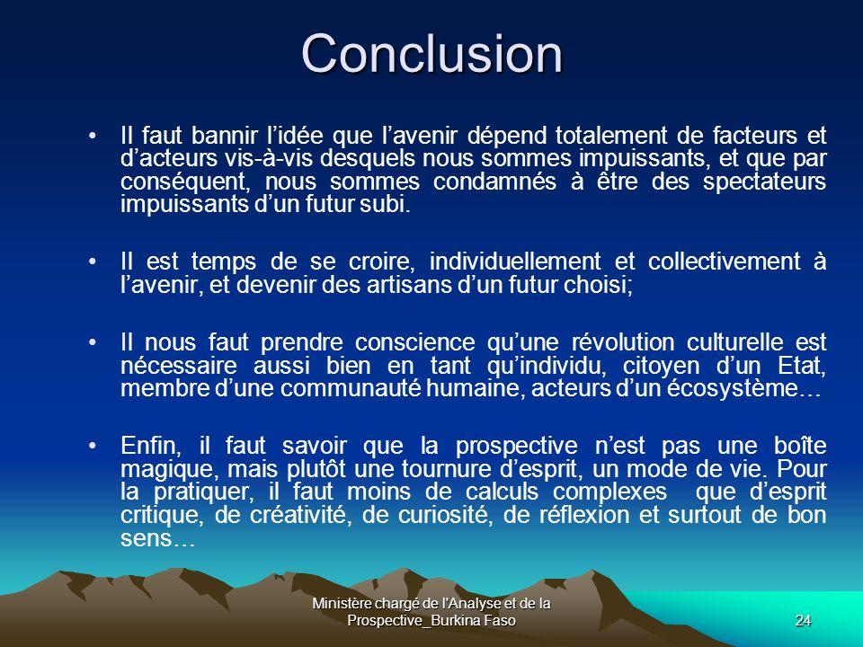 Ministère chargé de l Analyse et de la Prospective_Burkina Faso