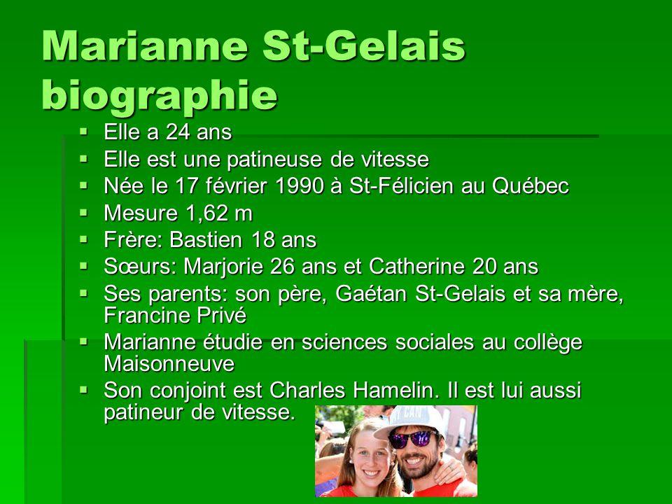 Marianne St-Gelais biographie