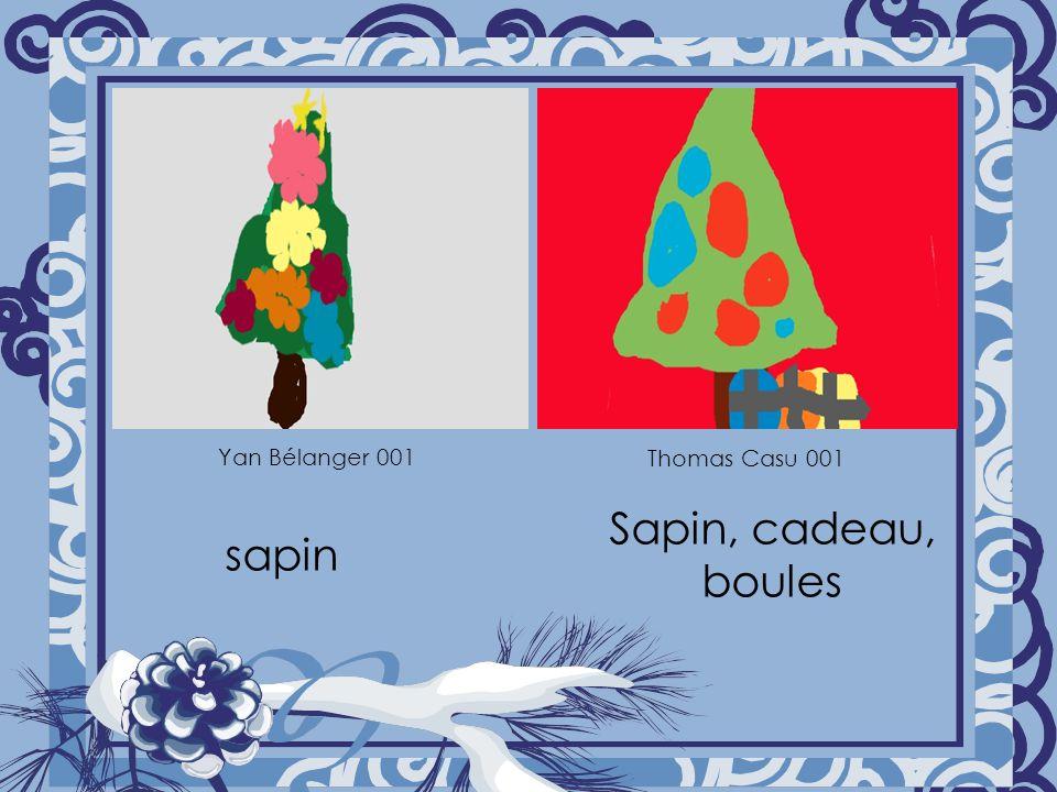 Yan Bélanger 001 Thomas Casu 001 sapin Sapin, cadeau, boules