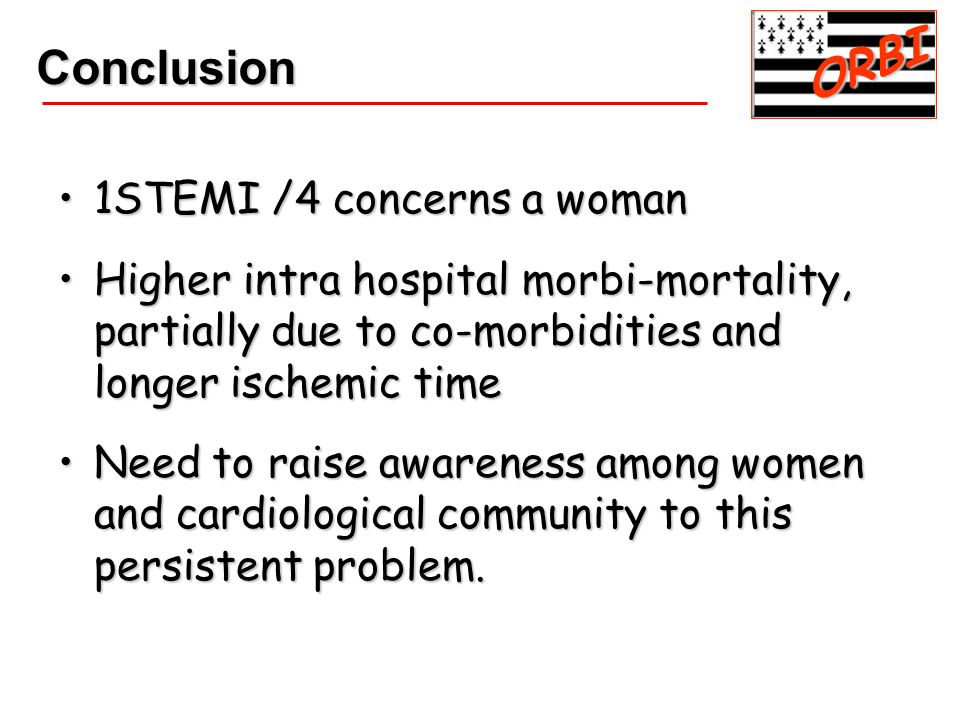 ORBI Conclusion 1STEMI /4 concerns a woman