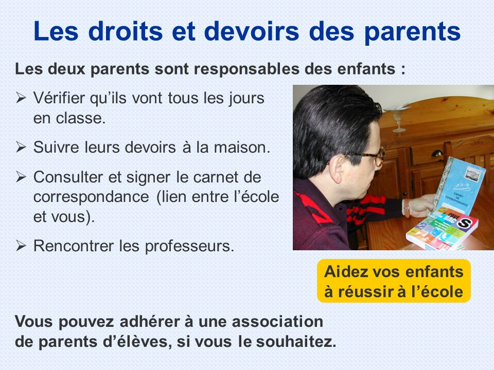Les droits et devoirs des parents