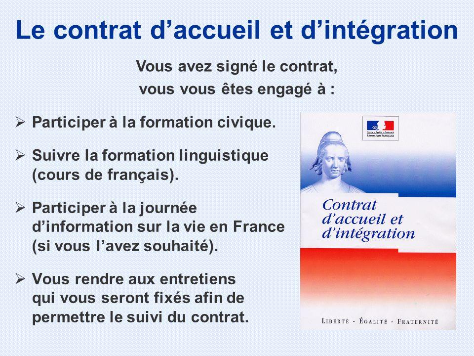 Le contrat d'accueil et d'intégration