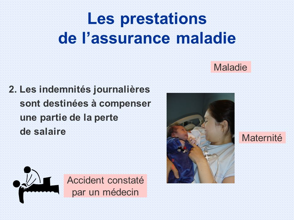 Les prestations de l'assurance maladie