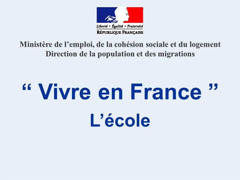 Vivre en France L'école