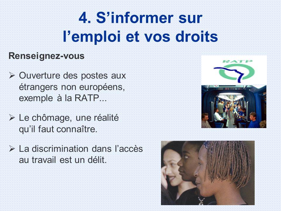 4. S'informer sur l'emploi et vos droits
