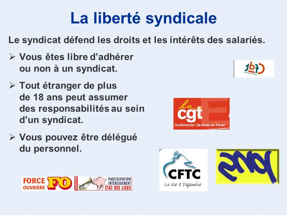 Le syndicat défend les droits et les intérêts des salariés.
