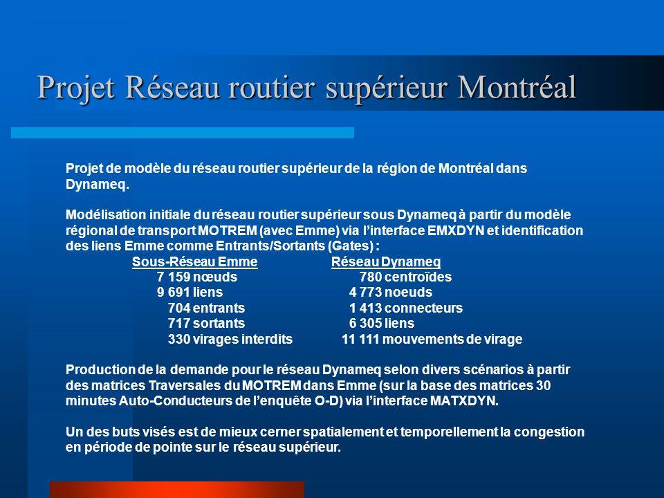 Projet Réseau routier supérieur Montréal