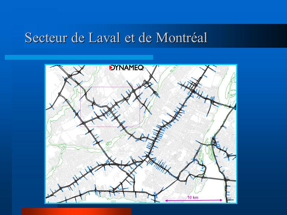 Secteur de Laval et de Montréal