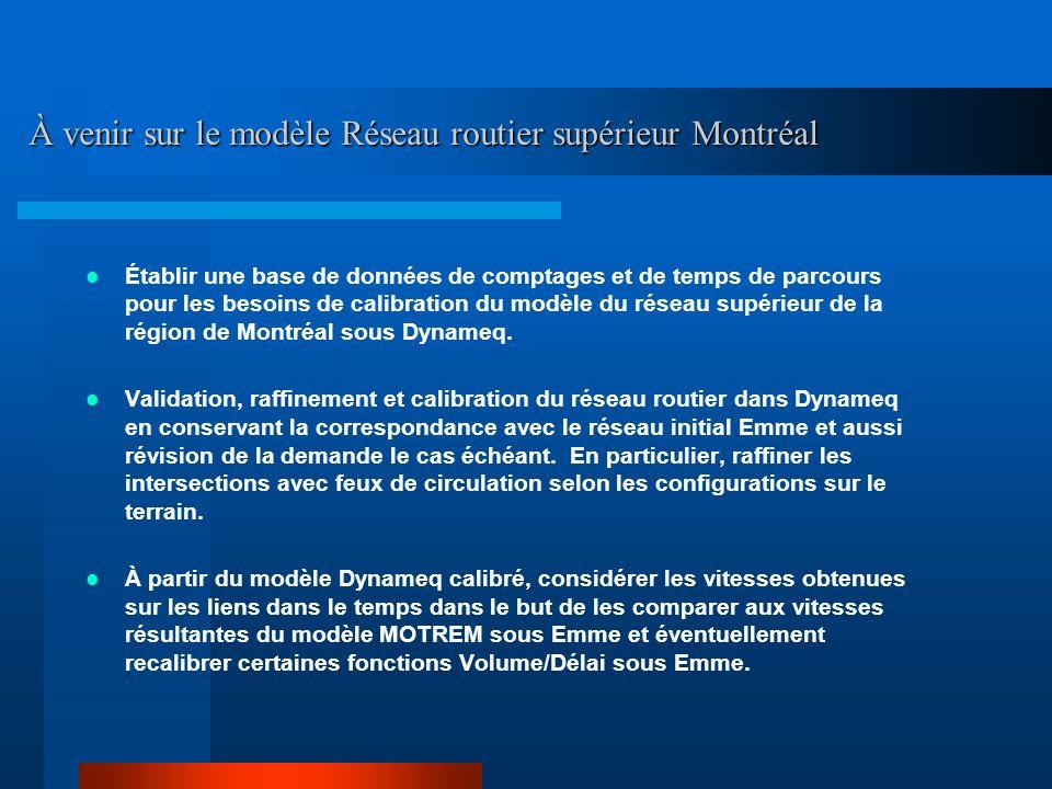 À venir sur le modèle Réseau routier supérieur Montréal
