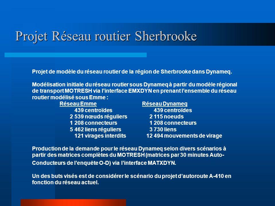 Projet Réseau routier Sherbrooke
