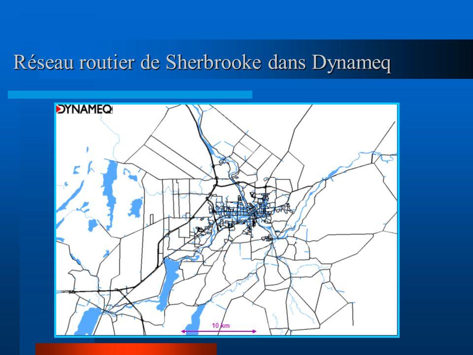 Réseau routier de Sherbrooke dans Dynameq