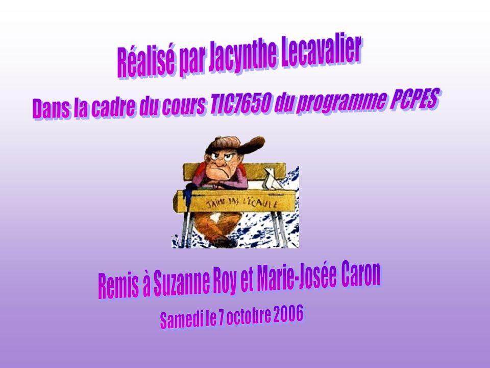 Réalisé par Jacynthe Lecavalier