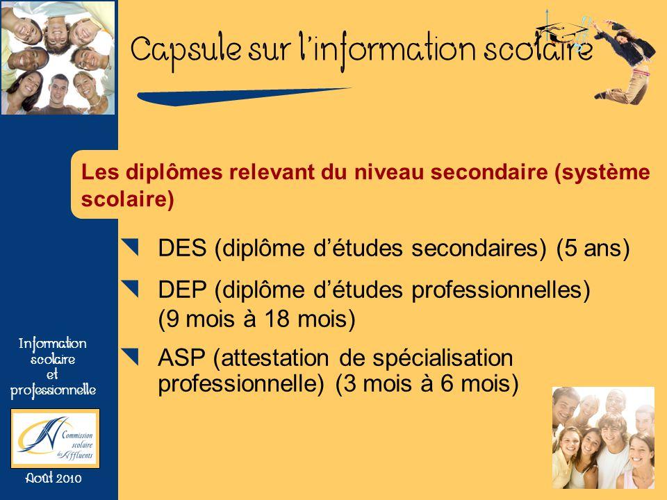 DES (diplôme d'études secondaires) (5 ans)