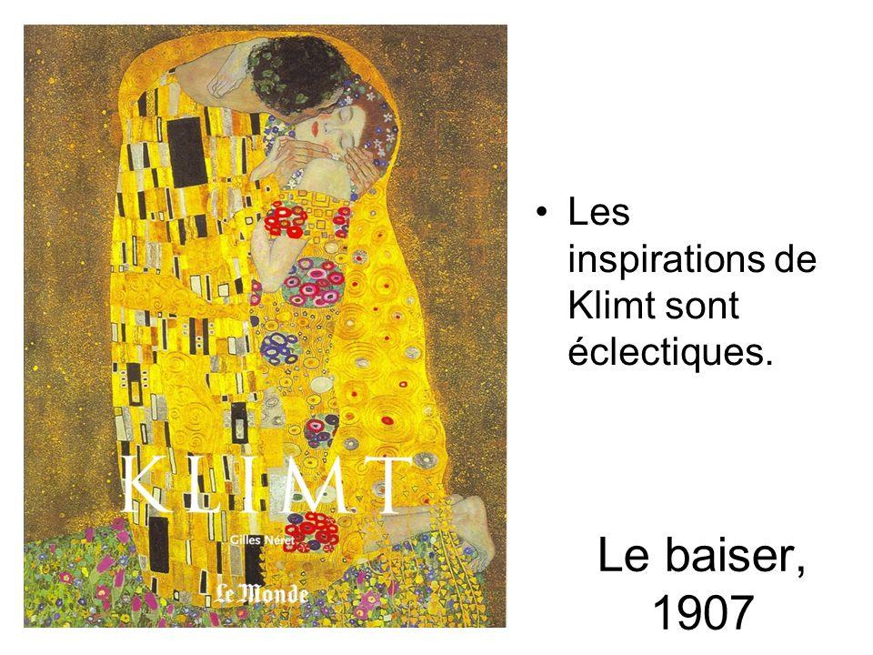 Les inspirations de Klimt sont éclectiques.
