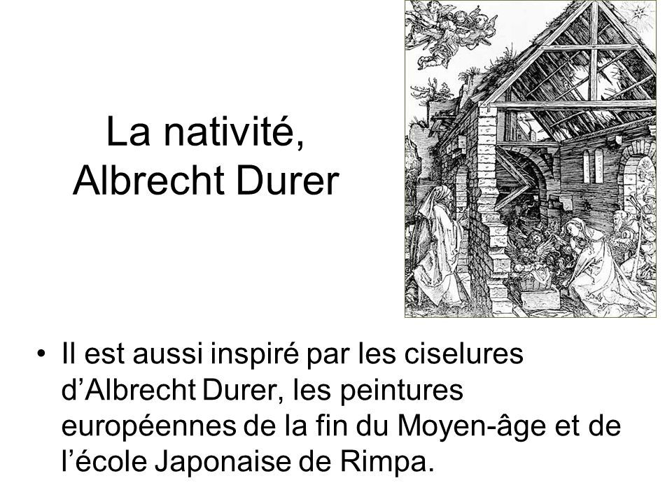 La nativité, Albrecht Durer