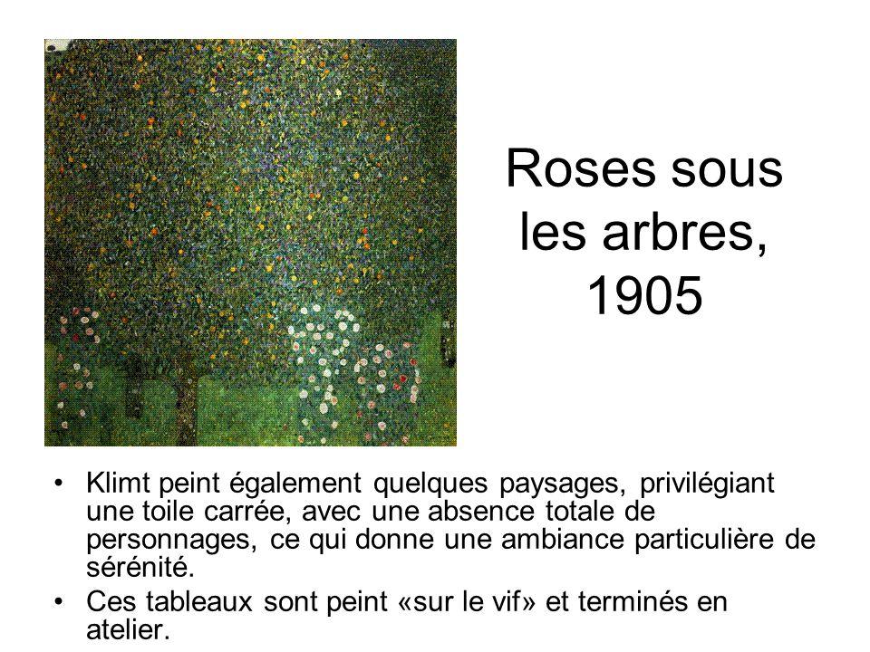 Roses sous les arbres, 1905