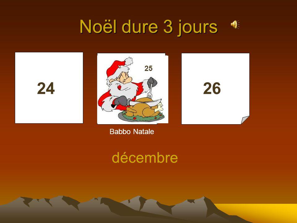 Noël dure 3 jours 25 25 24 25 26 Babbo Natale décembre